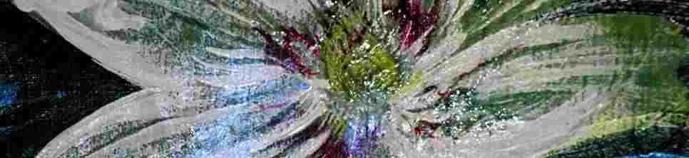 Peinture d'une fleure exotique